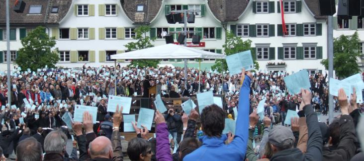 The assembly of the canton Glarus