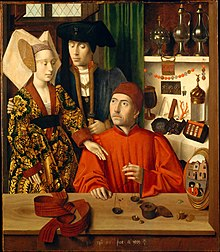 A goldsmith in his shop. Peter Christus (1449).