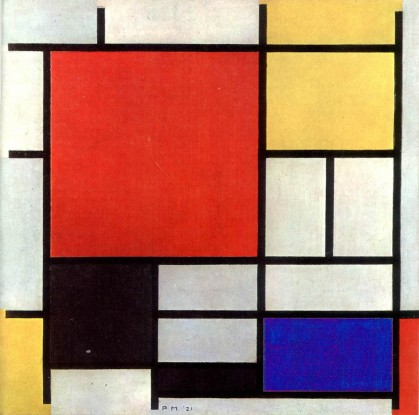 Painting of Piet Mondriaan