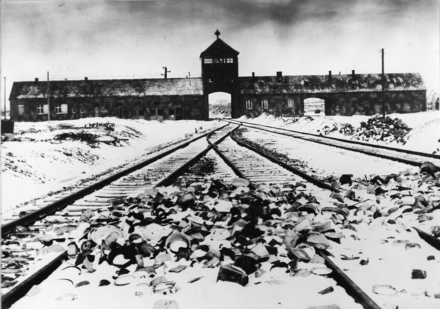 View on Auschwitz concentration camp