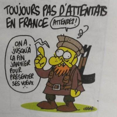 Toujours pas d'attentats en France. Charlie Hebdo