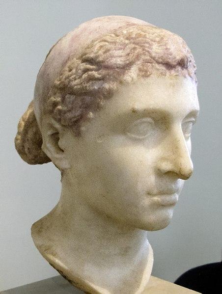 Roman sculpture of Cleopatra wearing a royal diadem