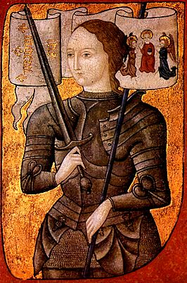 15th century miniature depicting Joan Of Arc