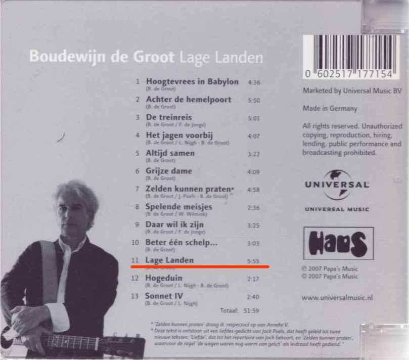 Lage Landen album cover