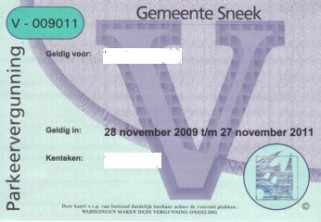 parking licence