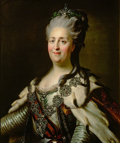 Catherine II of Russia by J.B.Lampi