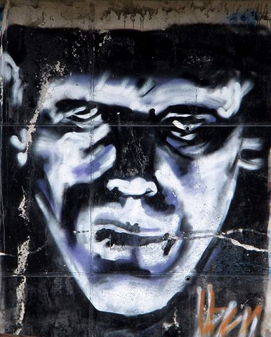 Graffiti near the Renfe station of Vitoria-Gasteiz