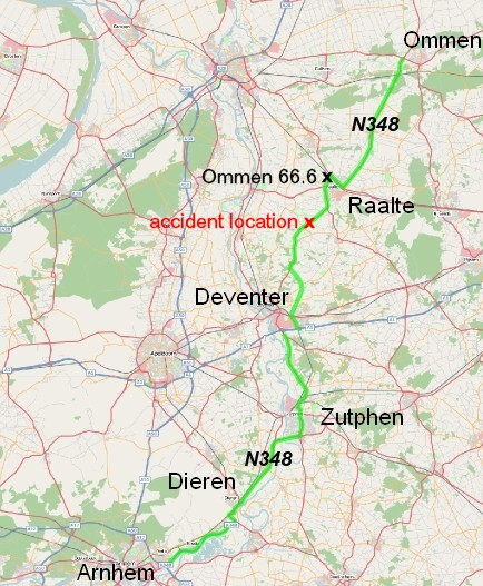 Route N348 from Arnhem to Ommen
