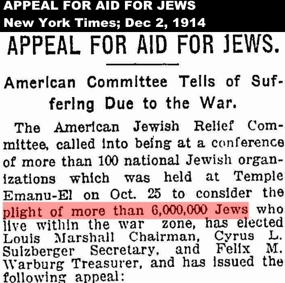 1914 American Jewish Committee appeal