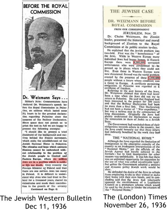 Dr. Weizmann's address before the royal commission
